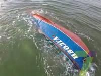 В Сети появилось видео затонувшего под Одессой катера