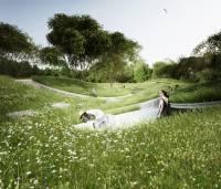 Китаю предлагают построить парк в виде русла реки