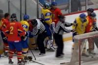 Хоккейный матч между Украиной и Румынией закончился разгромной победой и массовой дракой