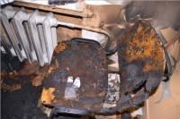 В Сети появились фото из сгоревшего во Львове полицейского участка
