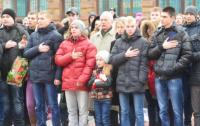 По всей Украине начались митинги в честь годовщины начала Революции достоинства