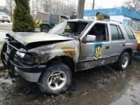 В Харькове сожгли три «айдаровских» внедорожника