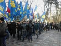 По случаю приезда Байдена, «свободовцы» штурмуют Раду с требованием отставки Яценюка