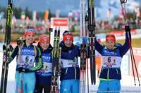 Украинские биатлонистки завоевали бронзу во втором этапе Кубка мира в Австрии
