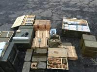 На Луганщине обнаружен очередной склад с боеприпасами