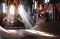 Вы не поверите, но в в Испании скейт-парк устроили прямо... в церкви
