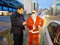 Столичные патрульные оштрафовали Деда Мороза
