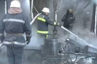 Пожар на новогоднем рынке в Харькове ликвидирован