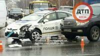 В Киеве в ДТП попал очередной патрульный автомобиль