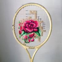 Вышивка на теннисных ракетках. Оказывается, это вполне реально