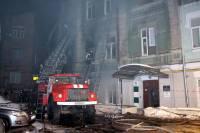 ГСЧС опубликовала фото и видео ночного пожара в самом центре Киева