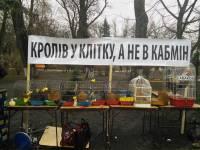 Под Верховной Радой проходит оригинальный пикет в поддержку отставки Яценюка