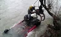 На Закарпатье автомобиль слетел с обрыва в реку. Водитель погиб