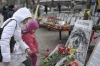 В Киеве несколько тысяч человек собрались на вече в память о Героях Небесной Сотни