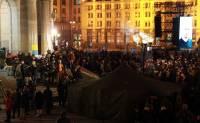Активистам удалось установить палатку на Майдане