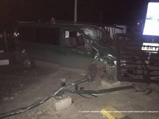 На Одесщине пьяный водитель на большой скорости снес часть пограничного пункта пропуска
