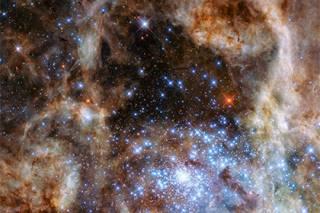 Телескоп Hubble обнаружил сразу девять звезд-монстров