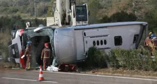 В Испании разбился автобус со студентами. Среди погибших есть украинцы