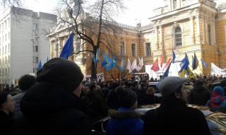 В центре Киева проходит митинг за отставку Шокина