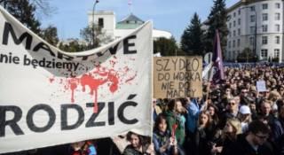 В Польше начались протесты из-за законопроекта о полном запрете абортов