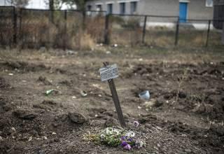 На Донбассе обнаружили захоронения украинских военных, погибших два года назад