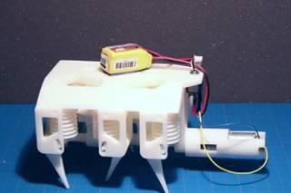Американские инженеры напечатали на 3D-принтере ползающего робота