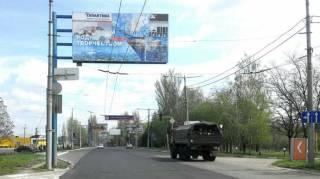 На улицах оккупированных городов Донбасса все чаще появляется военная техника боевиков