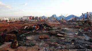 В Сирии самолеты разбомбили лагерь для беженцев