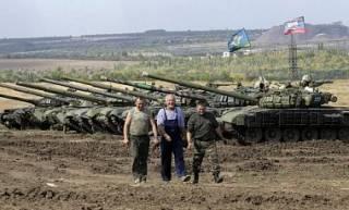 Боевики стягивают танки под Новоазовск