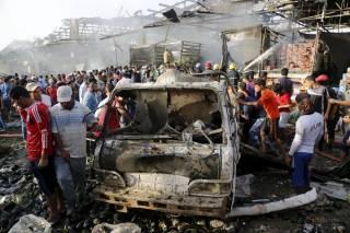 В Багдаде  в результате взрыва на рынке погибли более 60 человек