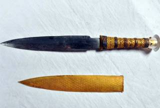 Археологи смогли доказать, что знаменитый кинжал Тутанхамона имеет внеземное происхождение