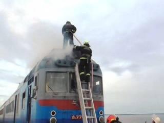 На Черкасщине на ходу загорелся поезд с пассажирами