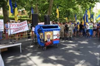 Одесса митингует против своего мэра. Город встал в пробках