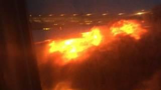В аэропорту Сингапура при посадке загорелся самолет