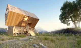 Дизайнер, вдохновленный пейзажами украинских гор, создал настоящий Дом восходящего солнца
