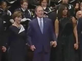 Буш-младший станцевал... на похоронах убитых в Далласе полицейских
