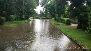 После проливных дождей Ужгород погрузился под воду