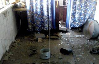 Боевики обстреливают дома в Марьинке