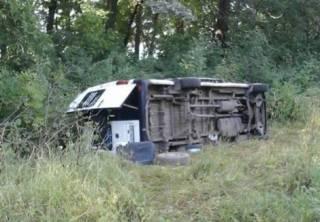 На Хмельнитчине по пути в Почаев перевернулся автобус с паломниками из Кропивницкого
