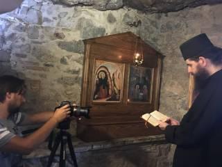 На Афоне украинские исследователи снимают фильм о святом Паисии Величковском