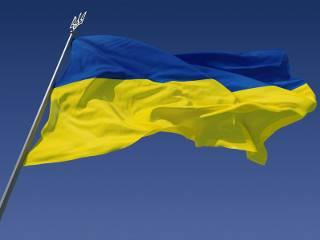 На Софиевской площади торжественно подняли флаг Украины