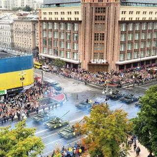 Военный парад в центре Киева. Фото с места событий