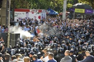 Полиция применила слезоточивый газ в центре Кишинева