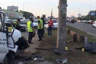 В Киеве преступник, убегая от полиции, погиб под колесами грузовика