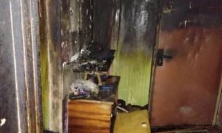 При пожаре в харьковской многоэтажке погиб мужчина