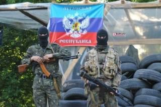 Луганские головорезы обустраивают новые блокпосты