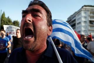 Полиция Греции применила газ против митингующих пенсионеров