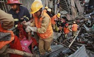 Появилось видео с места обрушения многоэтажек в Китае