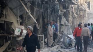 Российская авиация продолжает бомбить Алеппо
