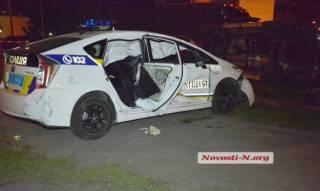 В Николаеве патрульная «Тойота» попала в ДТП. Пострадали полицейские
